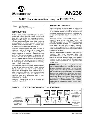 AN236, X-10 Home Automation Using the PIC16F877A - Microchip