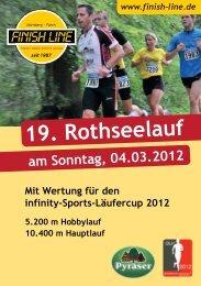 Ausschreibung des Rothseelaufs - Finish Line