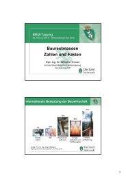 Baurestmassen Zahlen und Fakten - Abfall - Steiermark