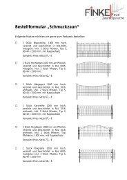 "Bestellformular ""Schmuckzaun"" - Finke Neue ZaunSysteme"