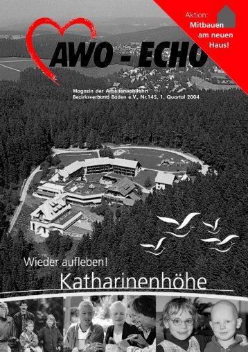 1. Quartal 2004 | Awo-Echo Ausgabe 145 - AWO Baden