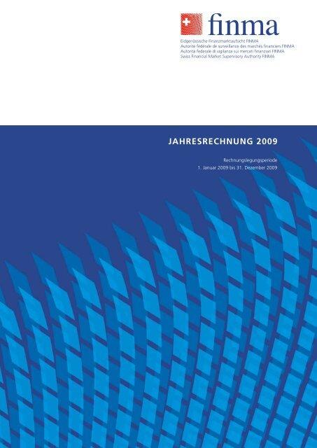 Jahresrechnung 2009 - bei der Eidgenössischen ...