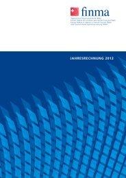 Jahresrechnung - bei der Eidgenössischen Finanzmarktaufsicht ...