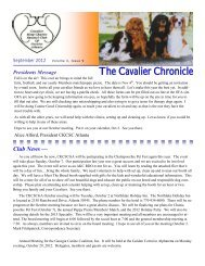 Attention Owner-Handler Exhibitors! - Cavalier King Charles Spaniel ...
