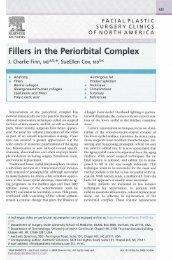 Fillers in the Periorbital Complex - Finn Facial Plastics