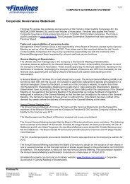 Corporate Governance Statement - Finnlines