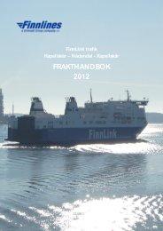 Nådendal - Kapellskär FRAKTHANDBOK 2012 - Finnlines