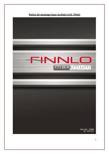 Notice de montage banc inclinée (réf. 3966) - Finnlo Fitness