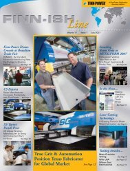 volume 17 - issue 1 - Finn-Power International, Inc.