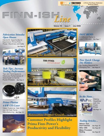 Customer Profiles Highlight Prima Finn-Power's Productivity and ...