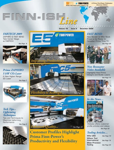 volume 19 - issue 2 - Finn-Power International, Inc.