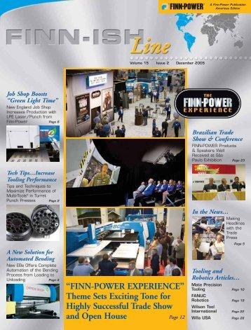 FINN-POWER EXPERIENCE - Finn-Power International, Inc.