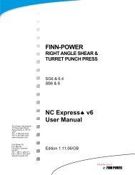 NC Express FPL Manual - Finn-Power International, Inc