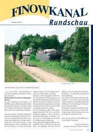 Rundschau - in der Region Finowkanal
