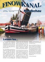 Ausgabe 1/2001 - in der Region Finowkanal