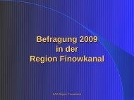 Befragung 2009 - in der Region Finowkanal
