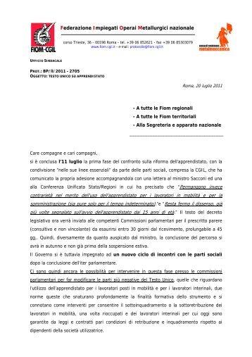 Federazione Impiegati Operai Metallurgici nazionale - Fiom - Cgil