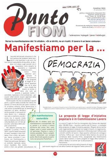 Manifestiamo per la democrazia - Fiom - Cgil