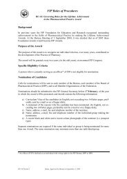 FIP Rules of Procedures - International Pharmaceutical Federation ...