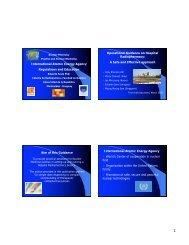 IAEA regulations and education - FIP