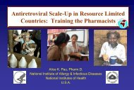 Drug-Drug Interactions of Antiretroviral Therapy PHIDISA ... - FIP