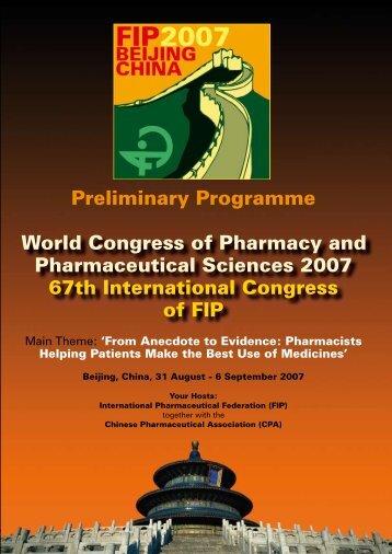 Preliminary Programme - FIP