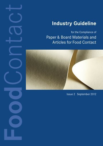 Industry guideline for the Compliance of Paper & Board ... - cepi