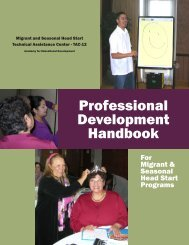 Professional Development Handbook - AED Center for Early Care ...