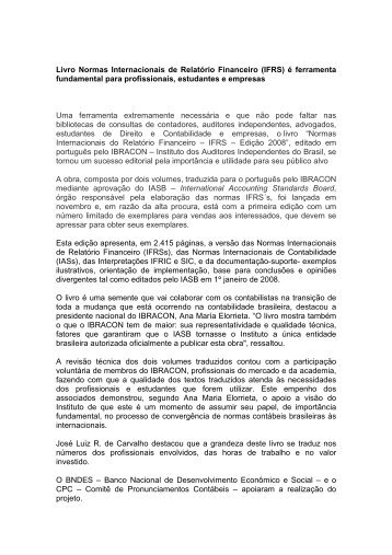 Livro Normas Internacionais de Relatório Financeiro (IFRS ... - Fipecafi