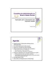 Conselhos de Administração no Brasil e Redes Sociais - CEG