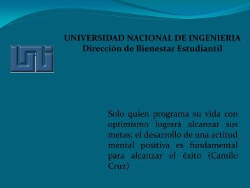 Presentación en Power Point DBE 2011 - Universidad Nacional de ...