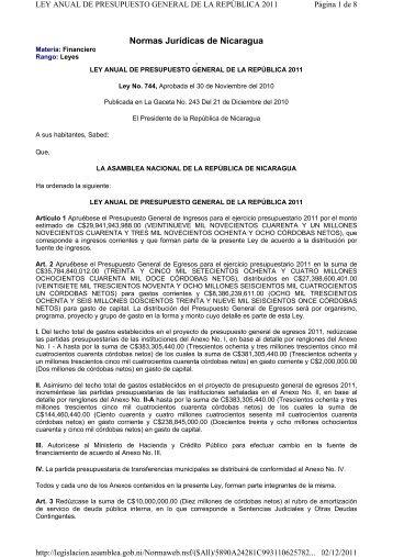 Normas Jurídicas de Nicaragua - FIQ