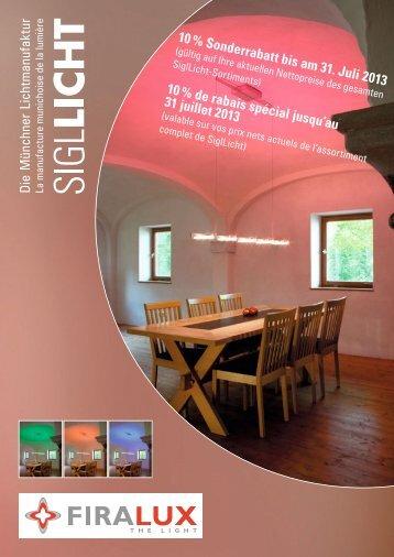 Flyer Siglicht - Firalux Design AG