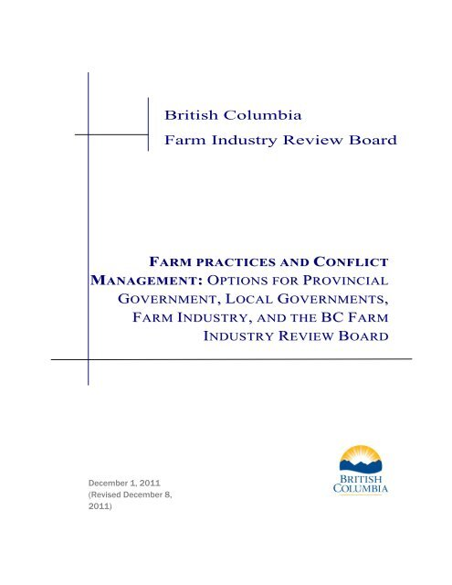BC F - Farm Industry Review Board