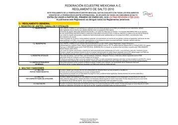 Reglamento de Salto FEM 2010 - Inicio