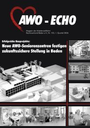 1. Quartal 2006 | Awo-Echo Ausgabe 153 - AWO Baden