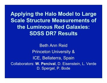 Applying the Halo Model to Large Scale Structure Measurements of ...