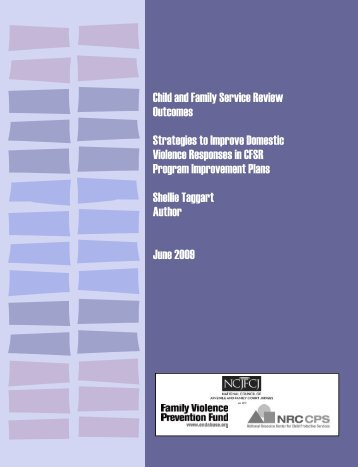 Child and Family Service Review Outcomes - The Greenbook Initiative