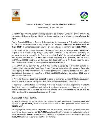 Informe del Proyecto Estratégico de Tecnificación del Riego ... - Firco