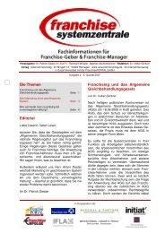 Ausgabe 2 · II. Quartal 2007 - Franchise-net