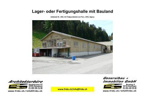 Bilddokumentation PDF Grundstück mit Lagerhalle...