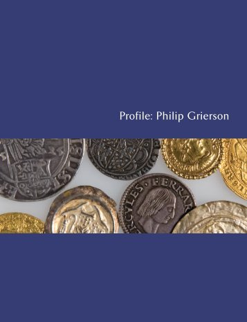 Profile: Philip Grierson - The Fitzwilliam Museum