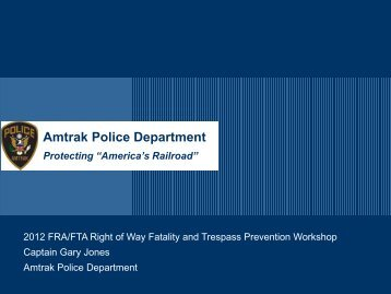 Aar powerpoint template 2009 federal railroad administration amtrak police department federal railroad administration toneelgroepblik Image collections
