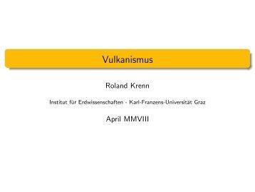Vulkanismus - Karl-Franzens-Universität Graz