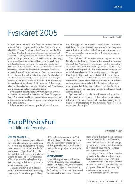2005-4 - Svenska Fysikersamfundet