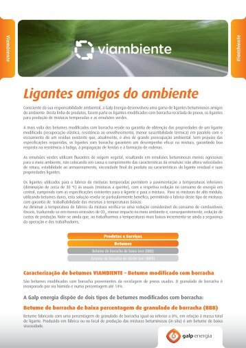 Linha de produtos Viambiente - Galp Energia