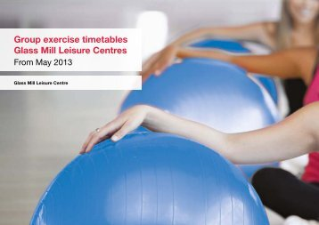 Group exercise programme - Fusion Lifestyle