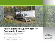 Forest Biomass Supply Chain for Community Projects - ForestNet