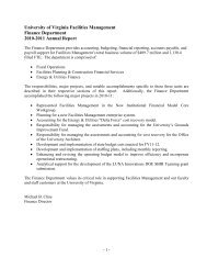 Zehmer Hall Plumbing Scope - Facilities Management - University of ...