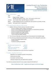 Limited Permit X-ray Technician Bone Densitometry School ID#6020 ...